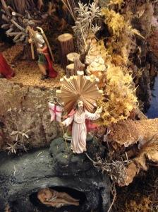 Die Auferstehung Jesu.  (Das Leben Jesu als Miniaturen dargestellt, ausgestellt im Buchhandel Marienstatt.)
